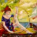 Donna nel cerchio_40x60_2011
